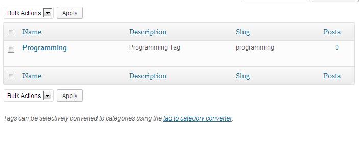 Programming Tag