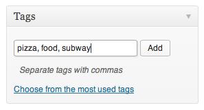 WordPress Tag Meta Box With Tags