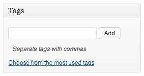 WordPress Tag Meta Box