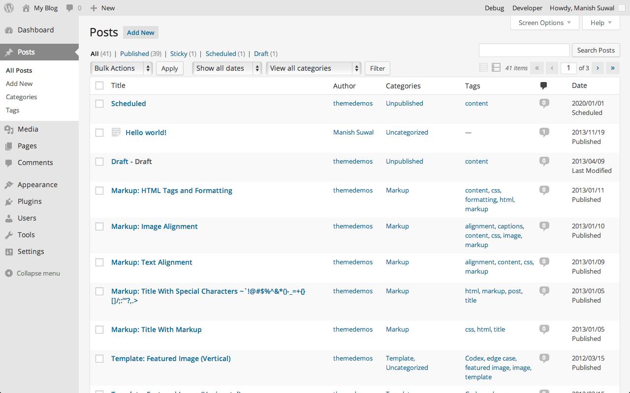 List of All Posts in WordPress