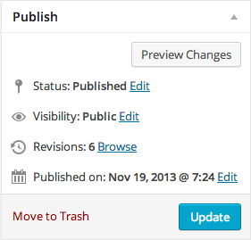 Publish Screen Option on WordPress