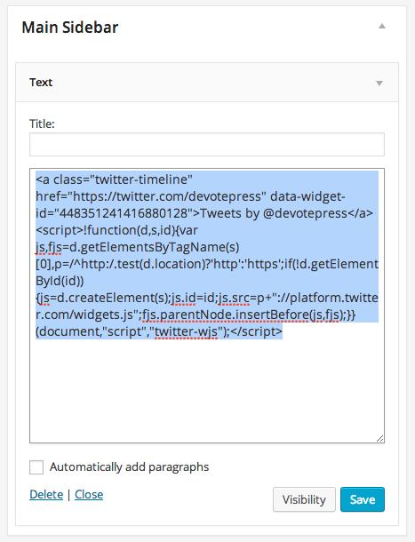 Copy Paste on Text Widget