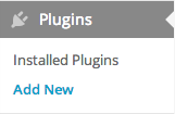 Plugins -> Add New
