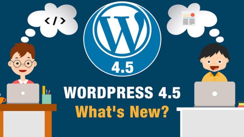 WordPress Version 4.5. What's new?