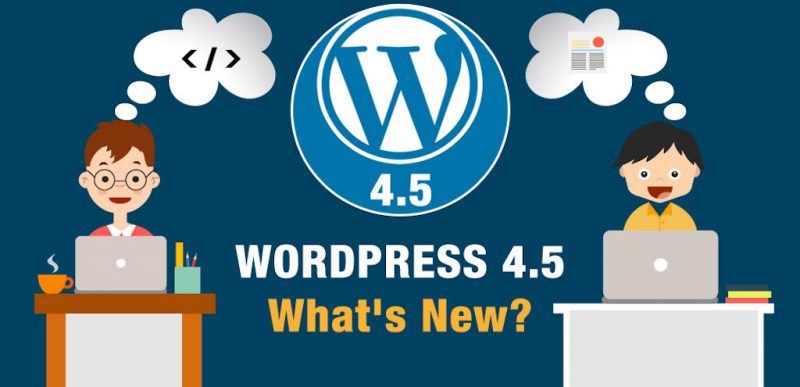 "WordPress version 4.5 ""Coleman"" has arrived. Read what's new."