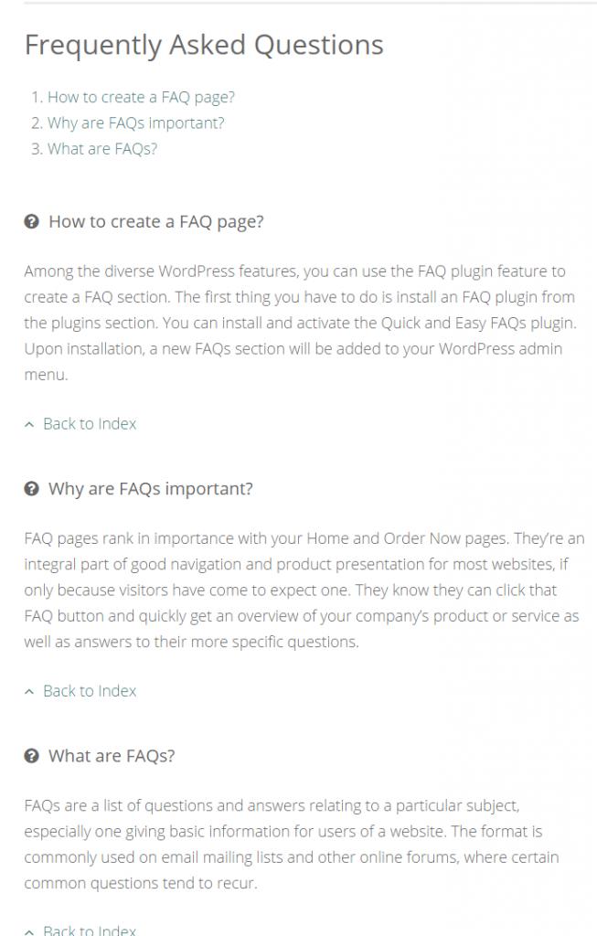 FAQ-List style