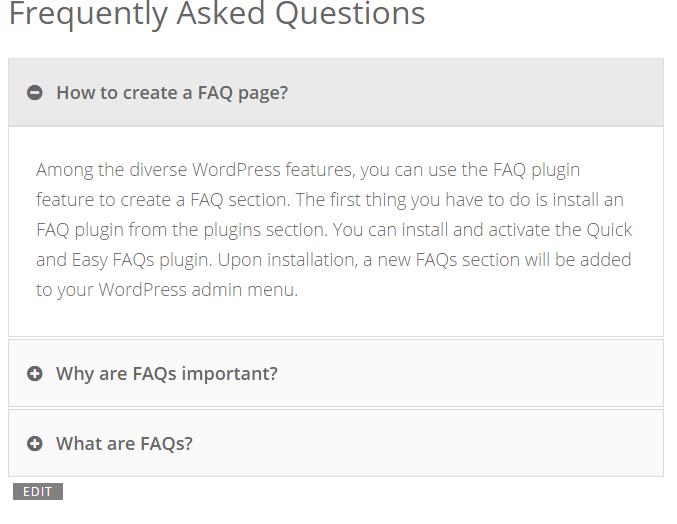FAQ-Toggle style