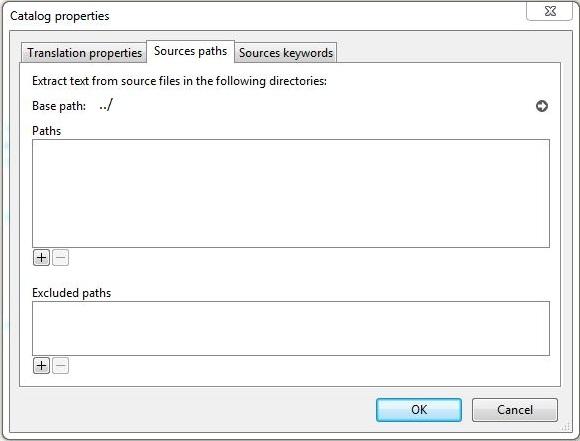 Source paths - Catalog Properties