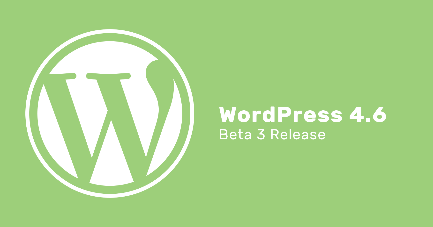 WordPress 4.6 Beta 3 release
