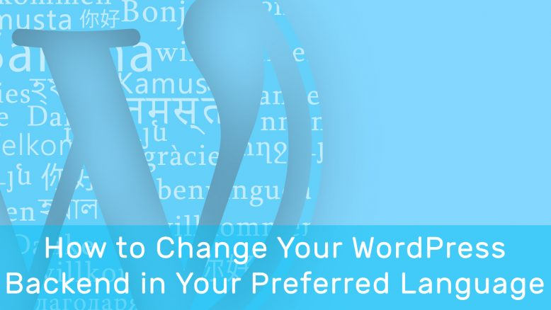 How to Change WordPress Backend