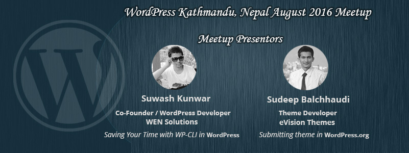 WordPress Kathmandu, Nepal August 2016 Meetup