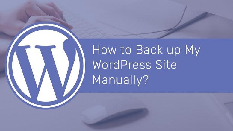 Back up a WordPress Site Manually?