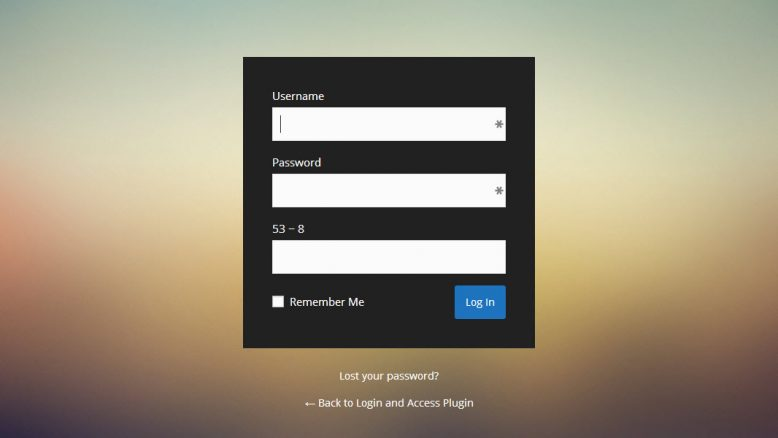 Custom Login Page Plugins for WordPress