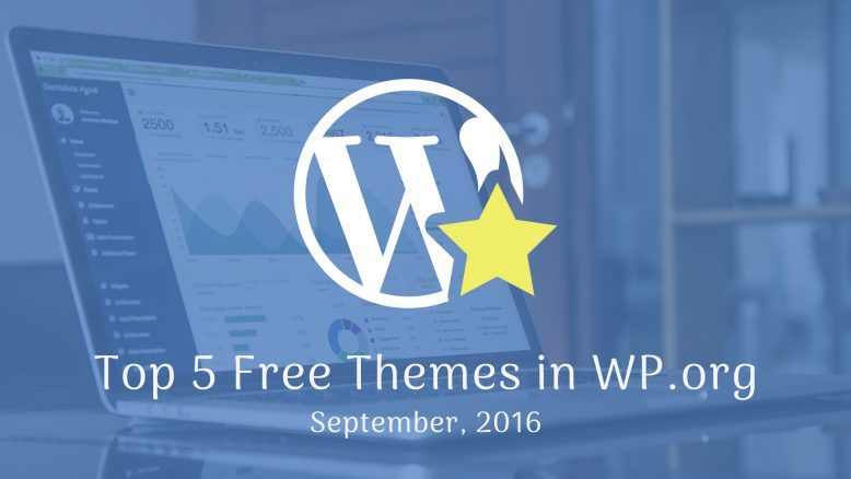 top 5 free themes in WordPress.org - September 2016