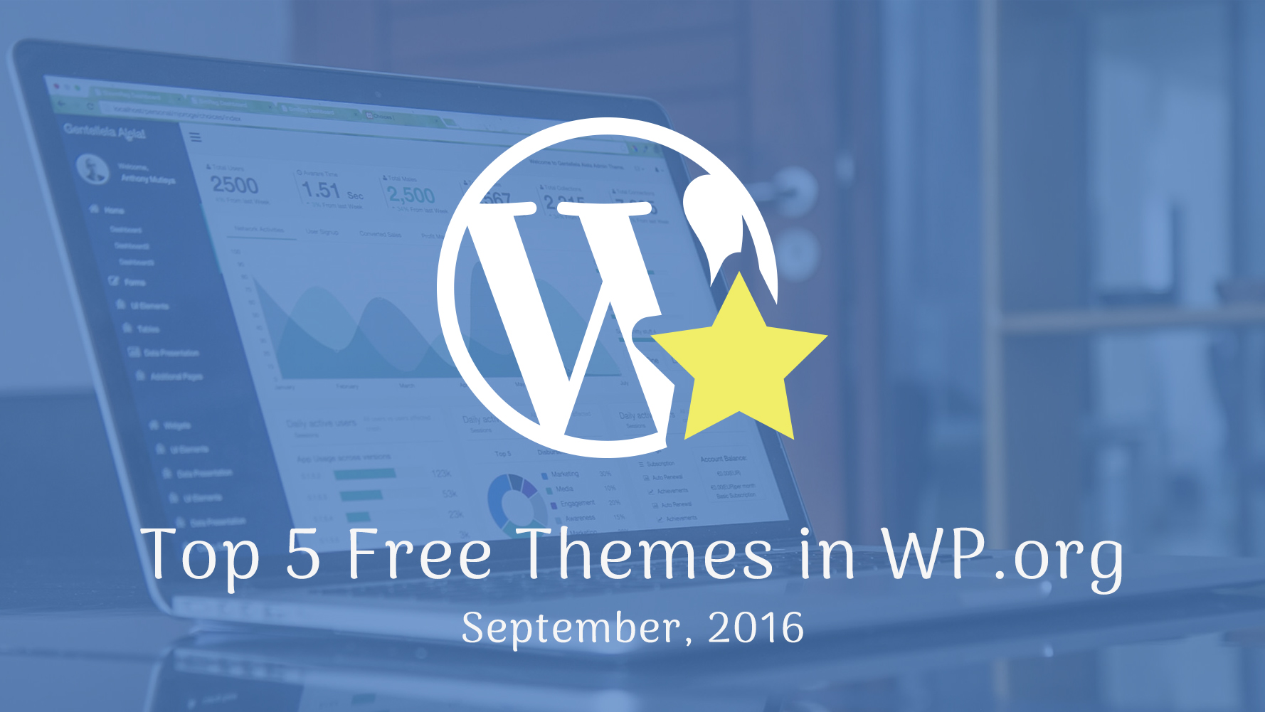 Top 5 Free Themes in WordPress.org – September 2016