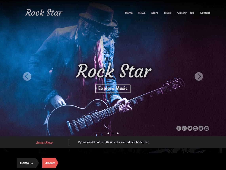 rockstar theme homepage