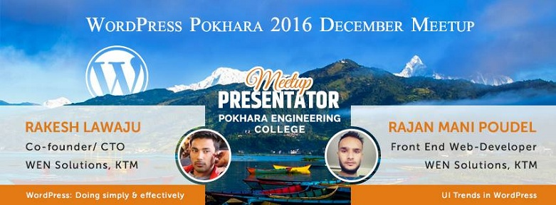WordPress Pokhara, Nepal 2016 December Meetup