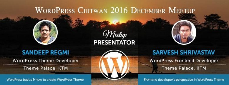 WordPress Chitwan 2016 December Meetup Facebook Banner