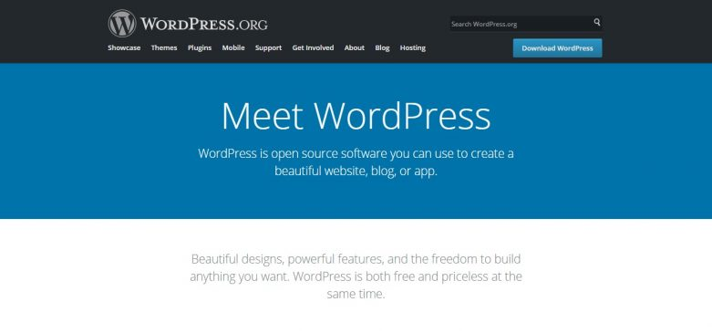 WordPress Redesigned Homepage