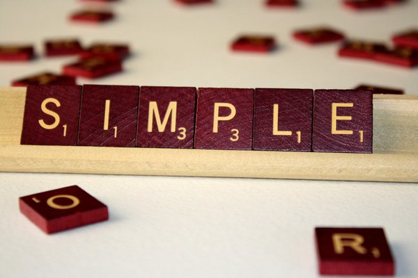 Scrabble pieces