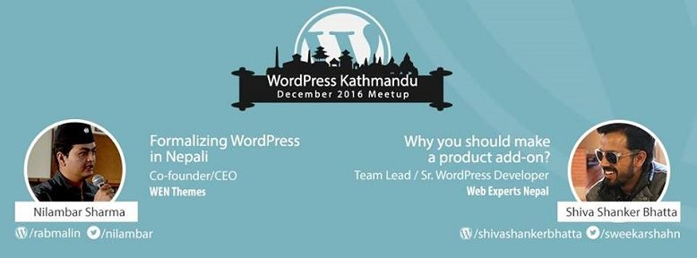 WordPress Kathmandu, Nepal December 2016 Meetup