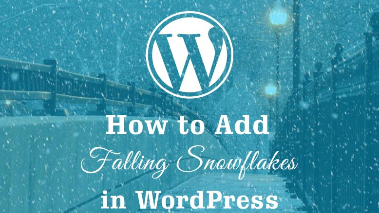 add falling snowflakes to your website