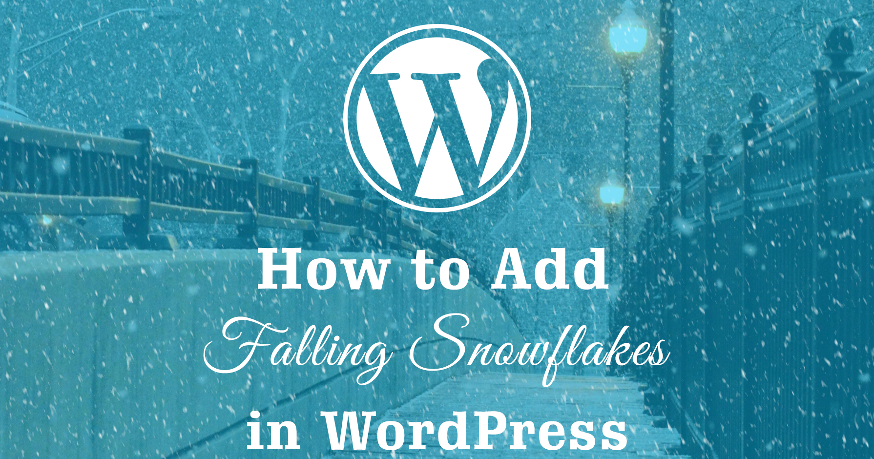 How to Add Falling Snowflakes to Your Website