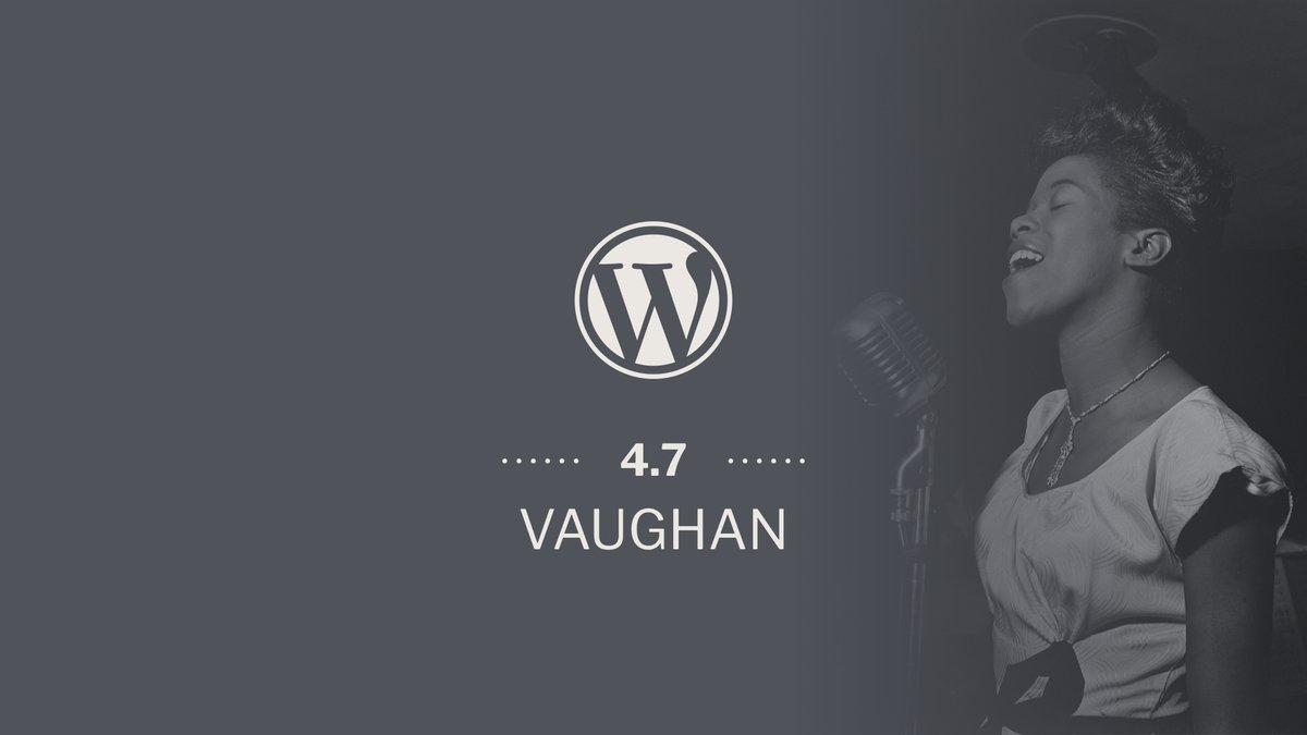 Way to WordPress 4.7: WordPress 4.7 Release Comes With A Bang!
