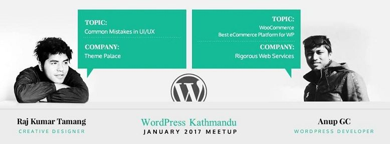 WordPress Kathmandu January 2017 Meetup Banner