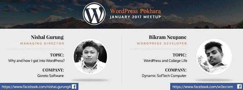 WordPress Pokhara January 2017 Meetup Banner