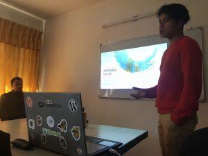 Raj Kumar Tamang during his presentation