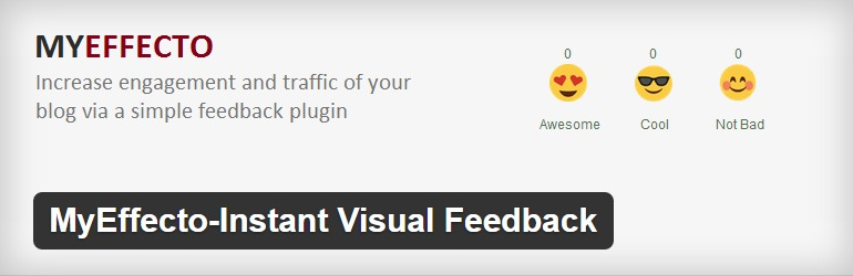 MyEffecto Instant Visual Feedback - A plugin to add Facebook like reactions to WordPress