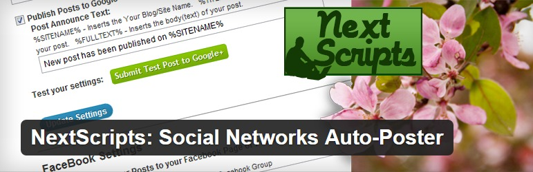 NextScripts Social Networks Auto Poster Screenshot