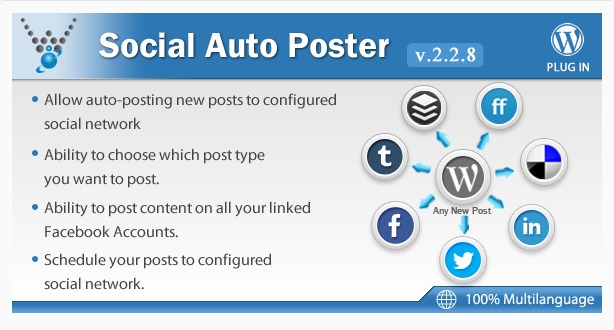 Social Auto Poster WordPress Plugin Screenshot