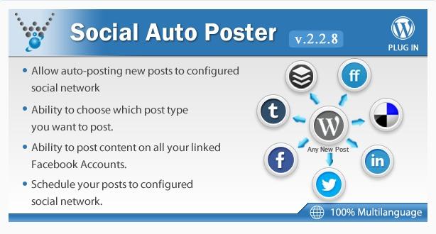 Social Auto Poster WordPress Plugin Screenshot