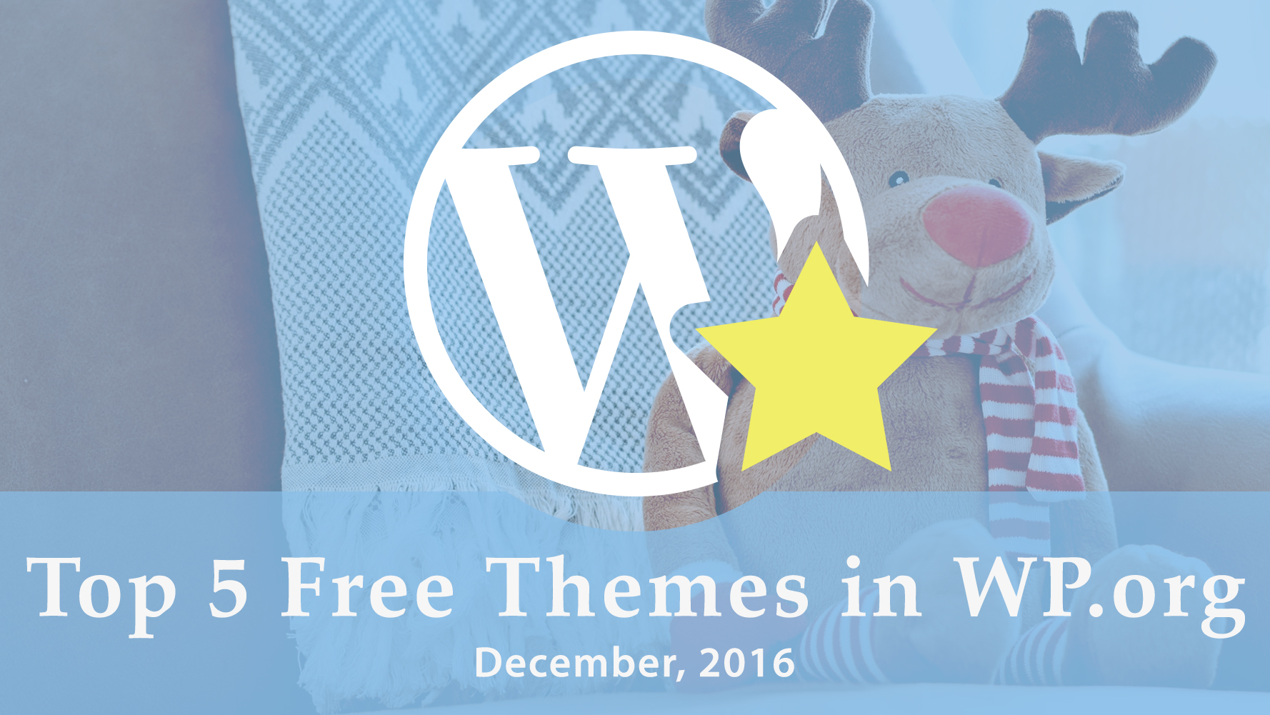 top 5 free themes in WordPress.org - December 2016