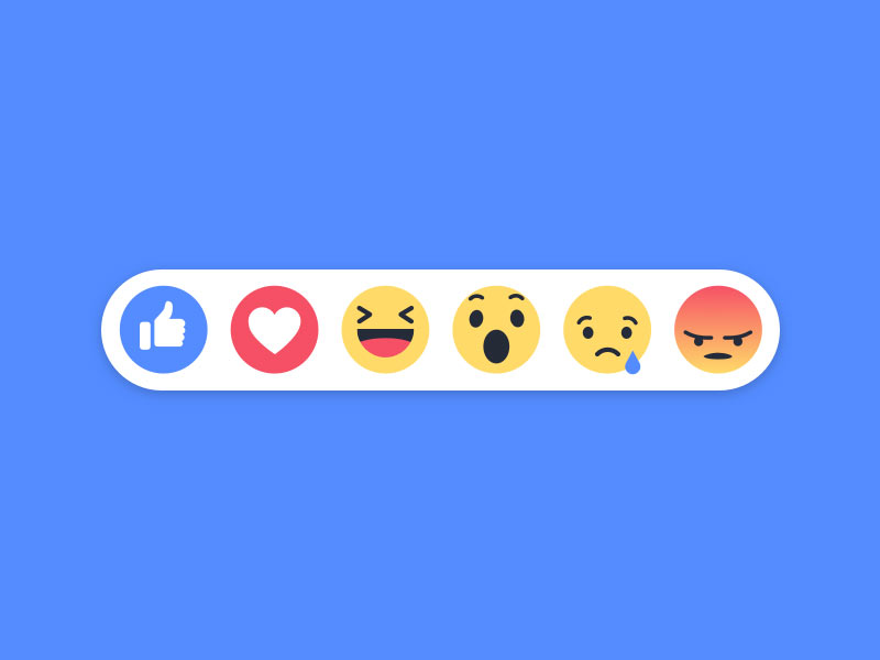 Facebook Reaction Buttons