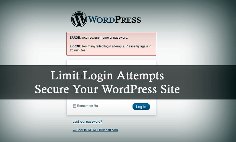 Text: limit login attempts to secure your wordpress site