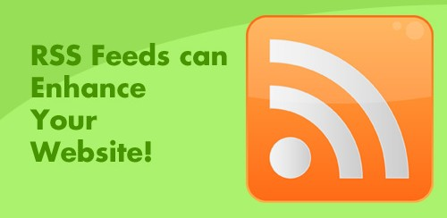 RSS feeds can enhance your website written with RSS logo