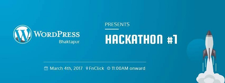 WordPress Bhaktapur Presents Hackathon #1 Banner