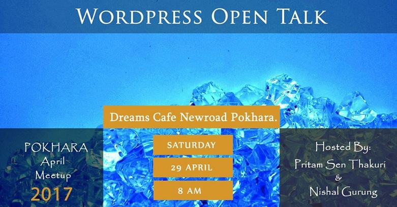 WordPress Pokhara April Meetup 2017 Banner