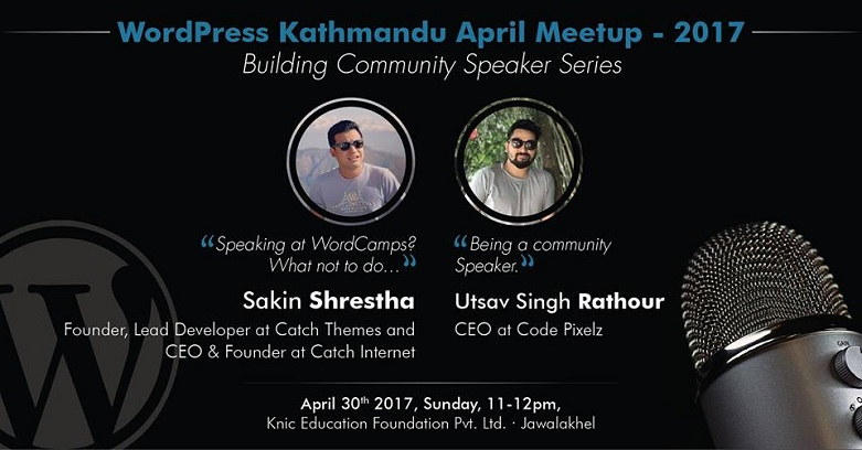 WordPress Kathmandu April Meetup 2017 Banner