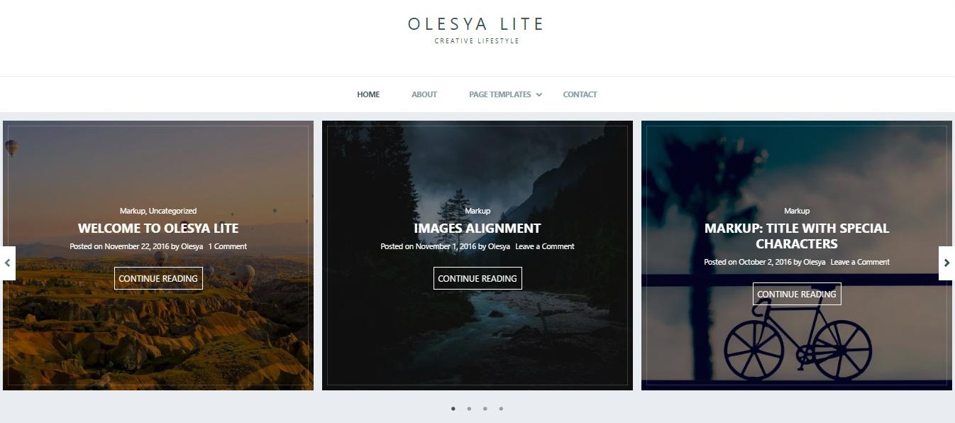 Olesya Lite Theme Demo