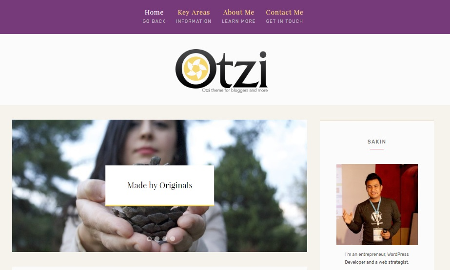 Otzi WordPress Theme Demo