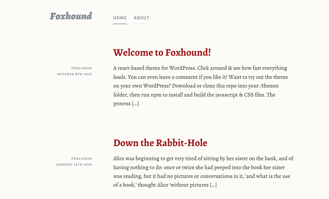 Foxhound wp theme screeshot