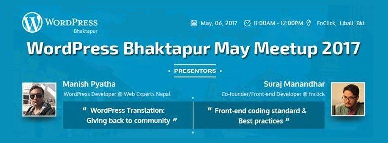 WordPress Bhaktapur May Meetup 2017