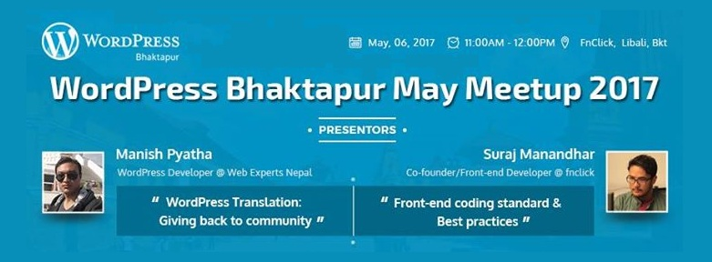 WordPress Bhaktapur May Meetup 2017 Tomorrow