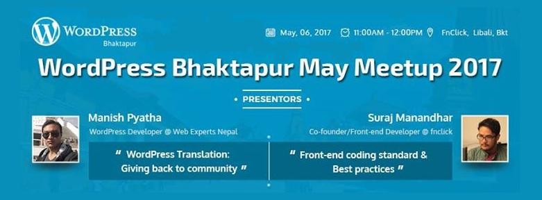 WordPress Bhaktapur May Meetup 2017 Tomorrow