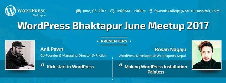 WordPress Bhaktapur June Meetup 2017