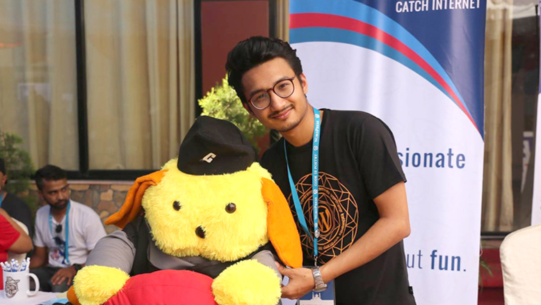 Sunil Bajracharya at WordCamp Kathmandu 2017. Image Source: Facebook